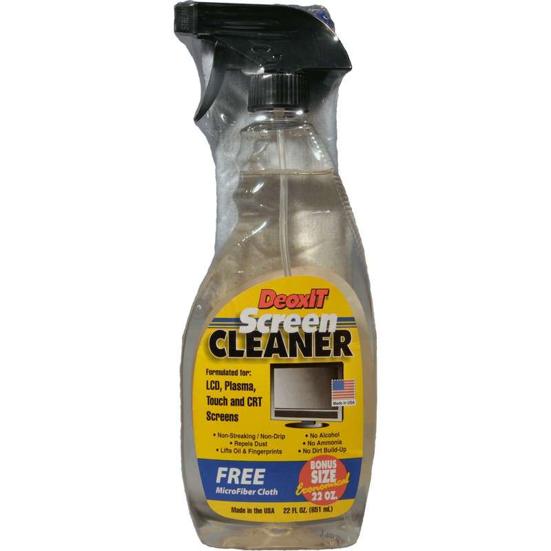 """DeoxIT® Anti-Static Screen Cleaning Kit with 12 x 12"""" Microfiber Cloth, 22 oz."""