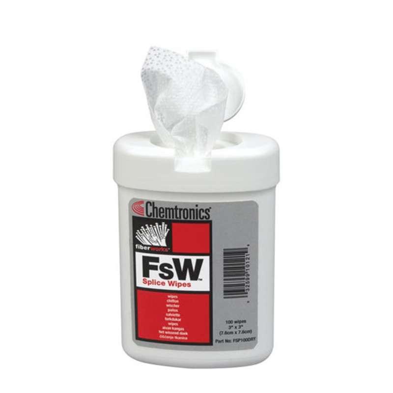"""FSW™ Fusion Splice Wipe, 3 x 3"""", 100 per Tub, 12 per Case"""