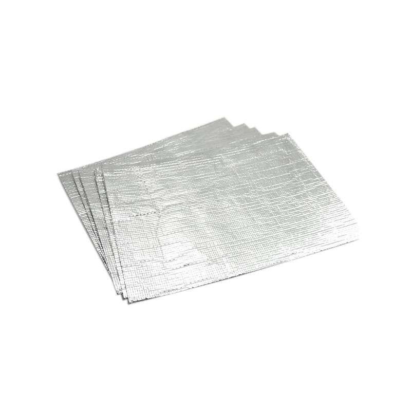 "Self-adhering Aluminized Heat Shield Blanket Rated at 400°F, 5 x 7"""