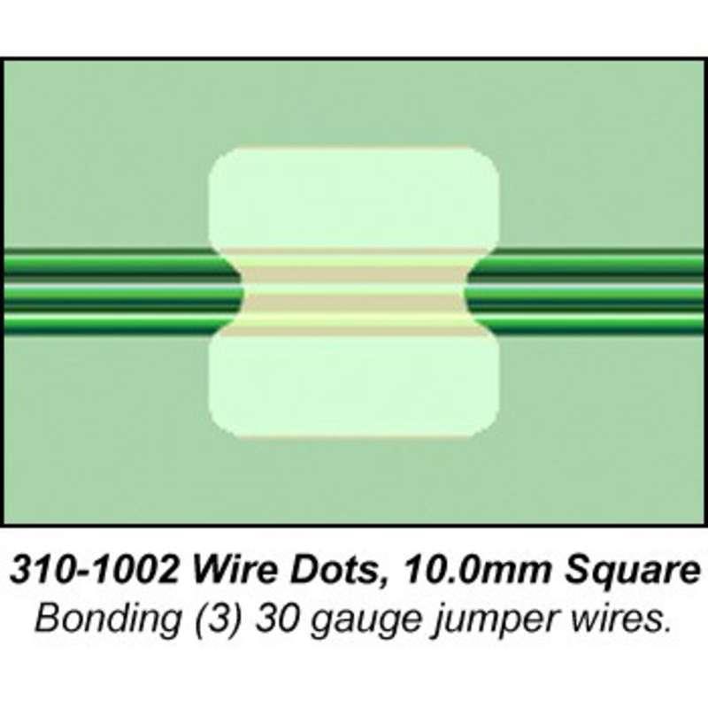 Flextac Wire Dots, 10mm Square, 210 per Pack