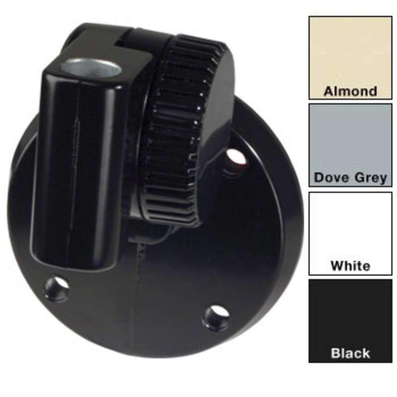 Universal Adjustable Mount for Dazor Pivot Post Models, Black
