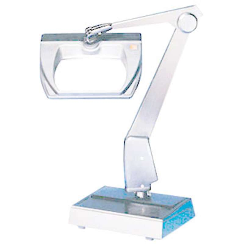 """Magnifier Light, 3-Diopter, w/Base, 6.75"""" Diameter, White"""