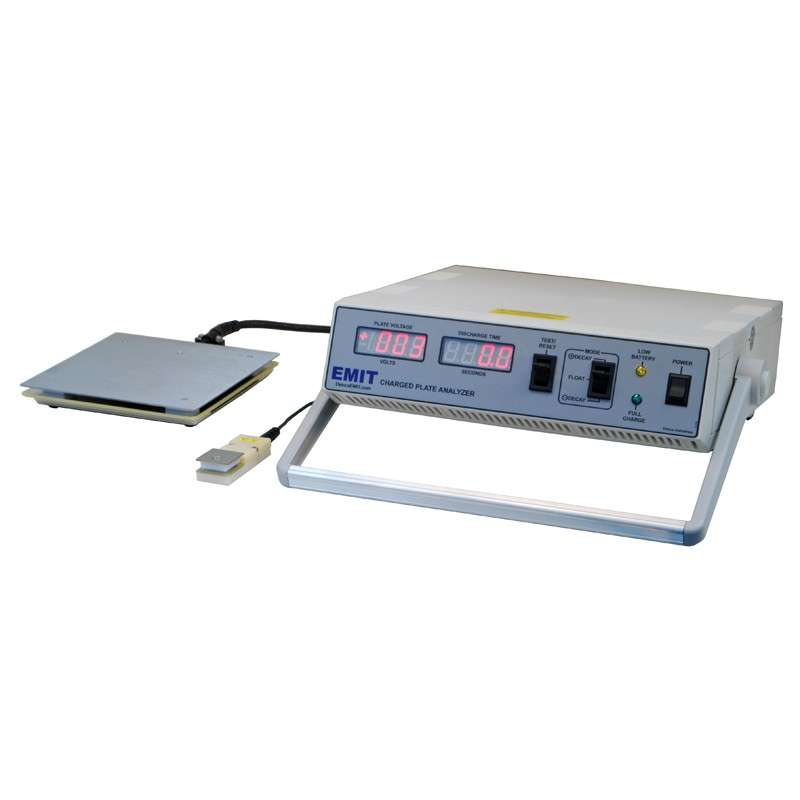 "Charged Plate Analyzer, 6 x 6"" Plate, with AC Adapter and Carry Case"