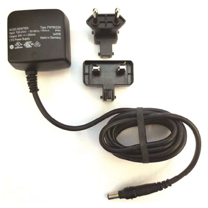EU / UK Power Supply for Wrist Strap Monitor 724, 100-240 VAC, WEEE Compliant