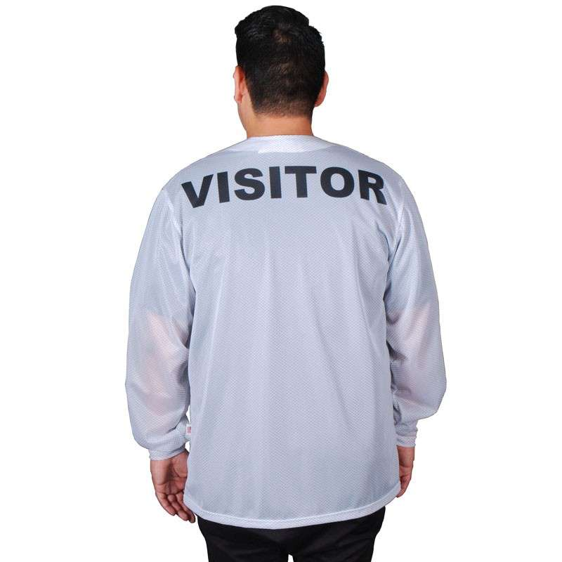 "Trustat™ ""VISITOR"" Jacket with Snaps, No Collar and One Pocket, White, Medium"