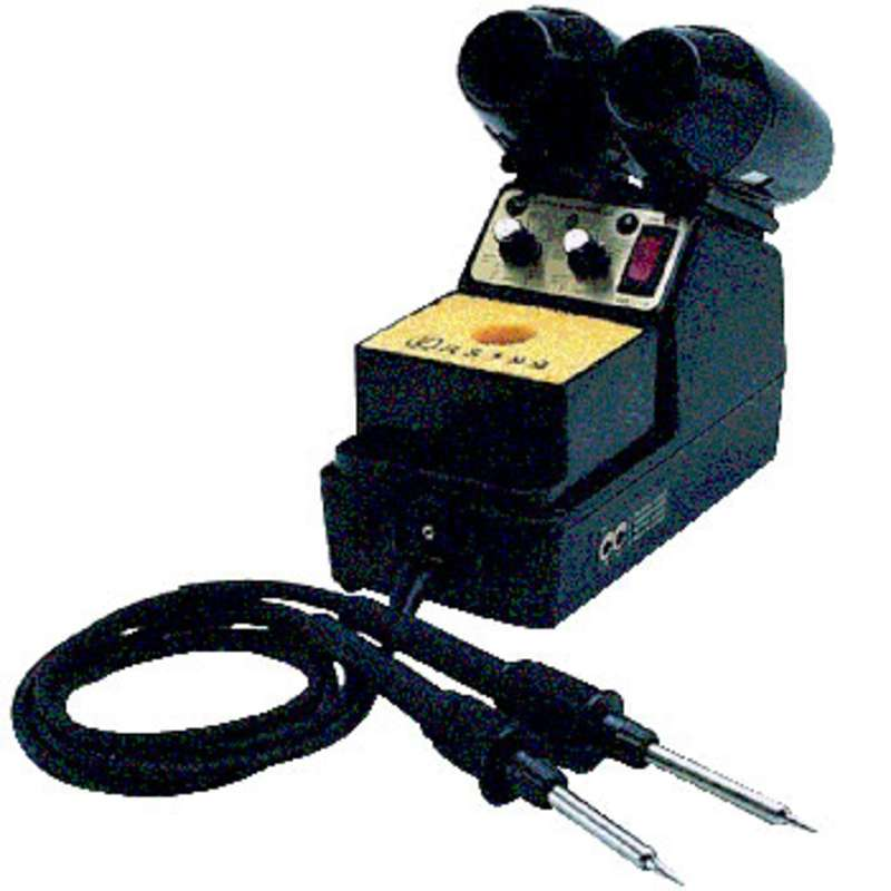Loner® ESD-Safe Temperature Controlled Dual Iron Soldering Station, 120 Volt 95 Watt