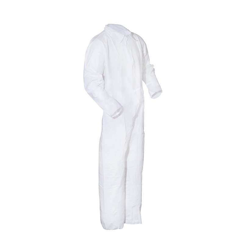 Disposable Microporous Coated Polypropylene Cleanroom Coveralls, White, 2X-Large, 25 per Case