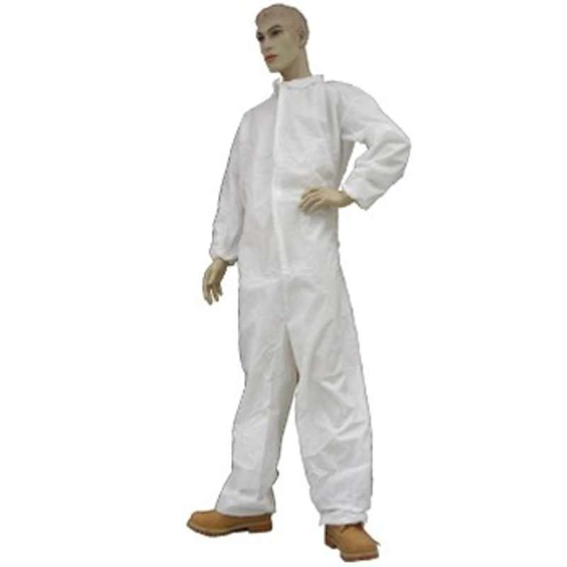 Cleanroom Disposable Coveralls with Elastic Wrists, Ankles & Back, 3X-Large, 25 per Case