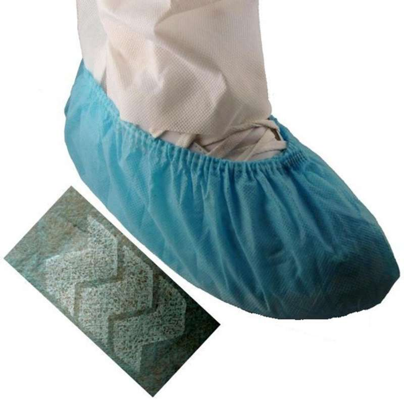 Cleanroom Disposable Anti-Skid Polypropylene Shoe Cover, Blue, 2X-Large, 300 per Case