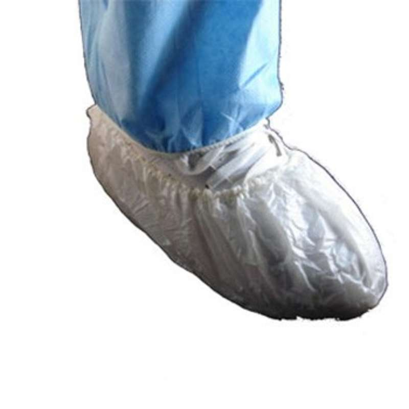 Cleanroom Disposable Polypropylene Shoe Cover, White, Large, 300 per Case