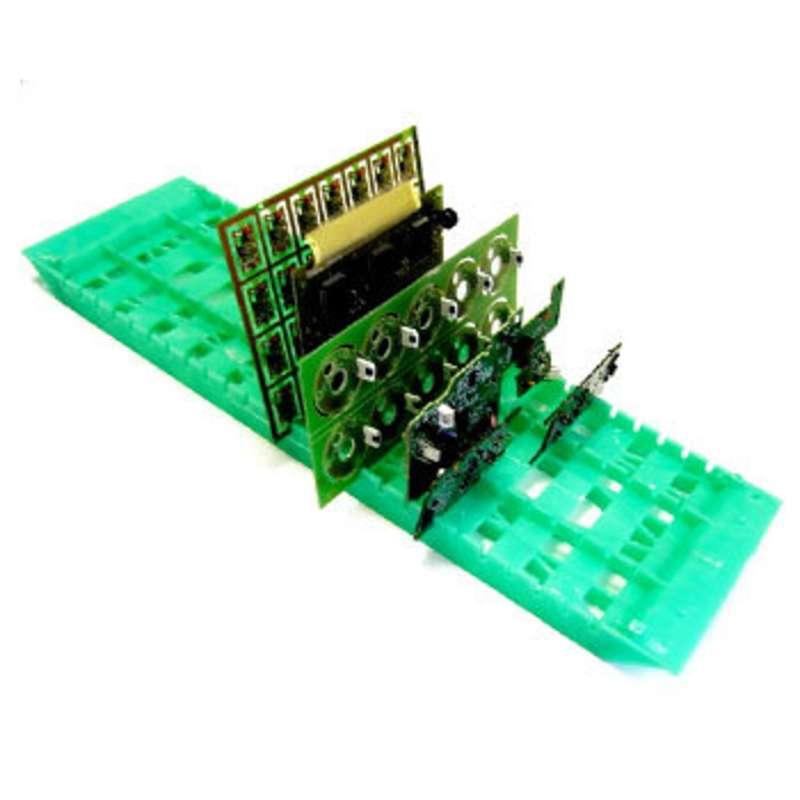 "Rack-All Model RA-18 Dissipative Lead Free Green PCB Board Rack, 6 x 18"" Long"