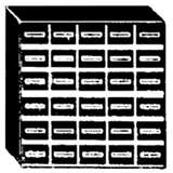 Conductive Storage Cabinet System with 30 Drawers