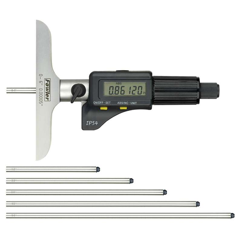 """Water Resistant Electronic Depth Micrometer with 0-6"""" Range"""