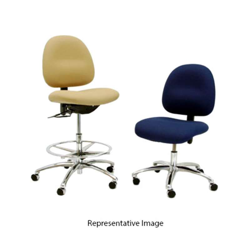 """Adjustable 22-29.5"""" 3000 Series ESD-Safe Fabric Chair with Aluminum Base and Casters"""