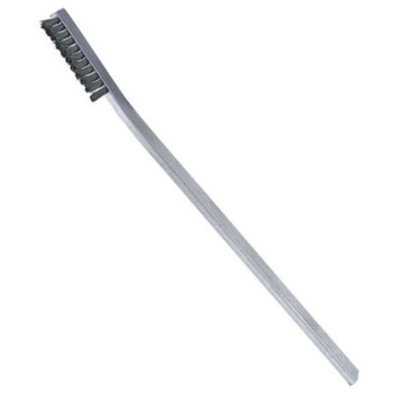 """ESD-Safe Brush with 1-1/4"""" Long Stainless Steel Bristles and an Aluminum Handle, 6-7/16"""" Long"""