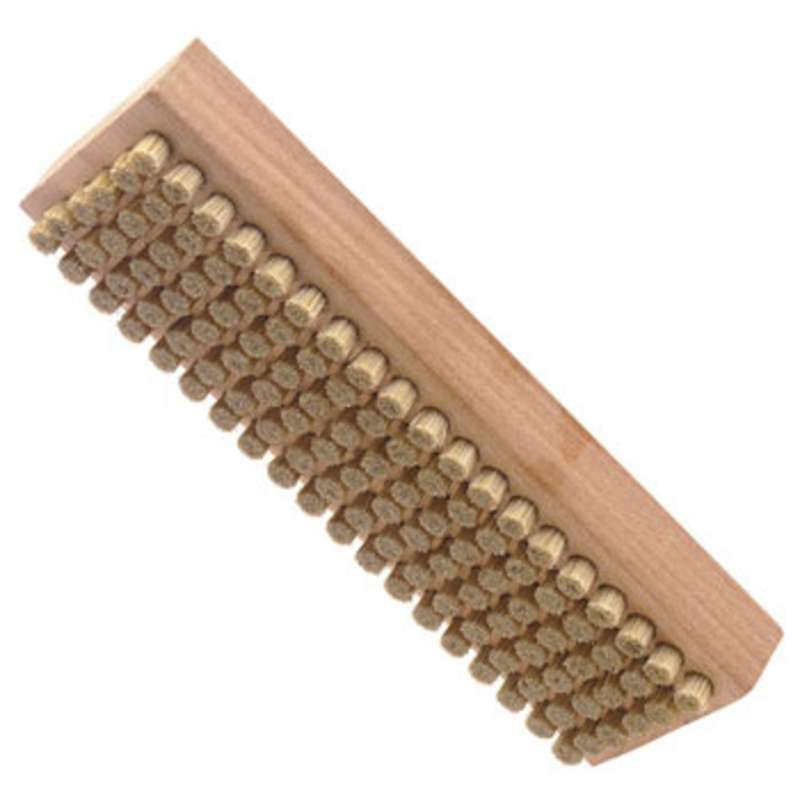 "ESD-Safe Brush with 1/4"" Long Hog Hair Bristles and a Plywood Handle, 2-1/4"" x 7-1/8"" Long"