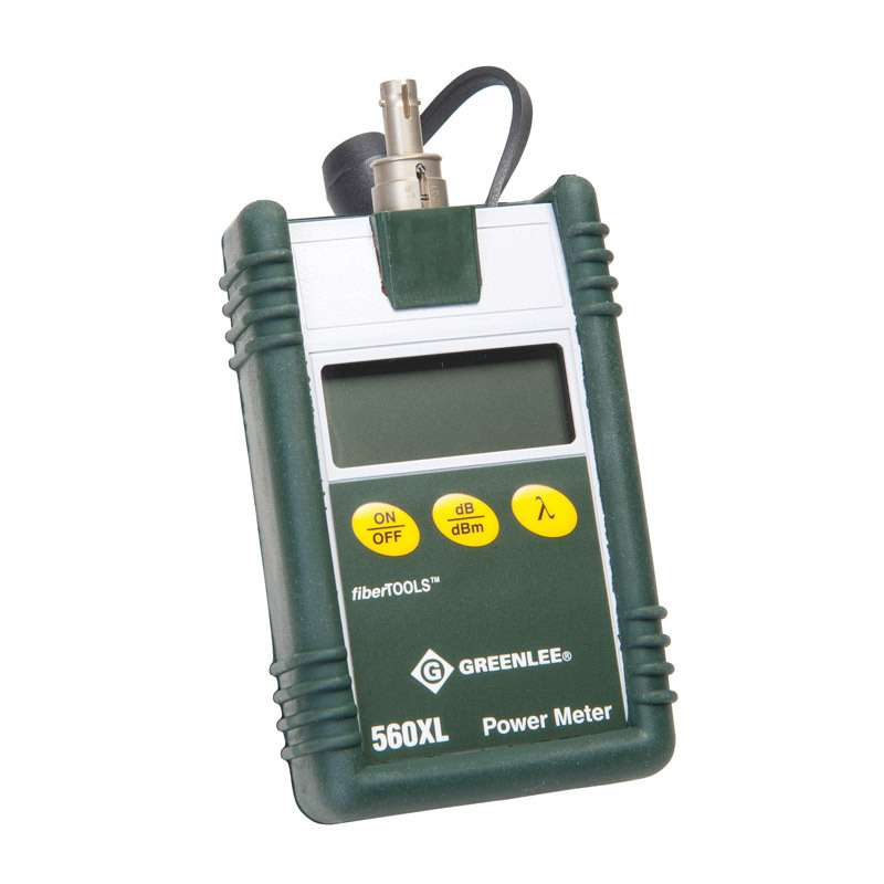 Fiber Optic Power Meter with Enhanced EMI Shielding, 850/1300/1310/1550nm