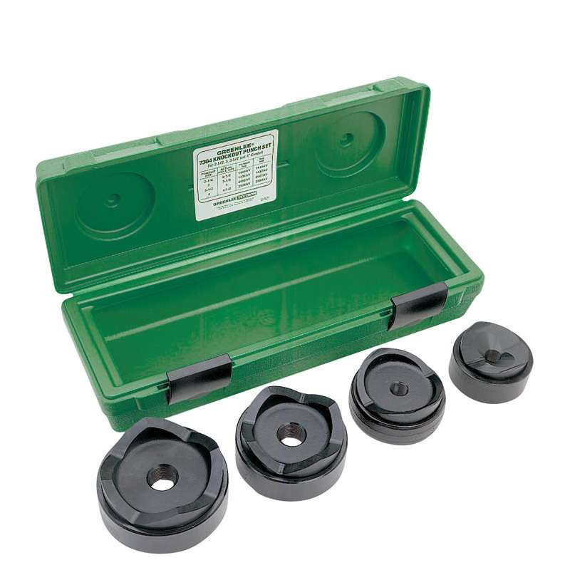 Standard Round Knockout Punch Kit for 11 Ton Hydraulic Drivers, Conduit Size 2-1/2 - 4""