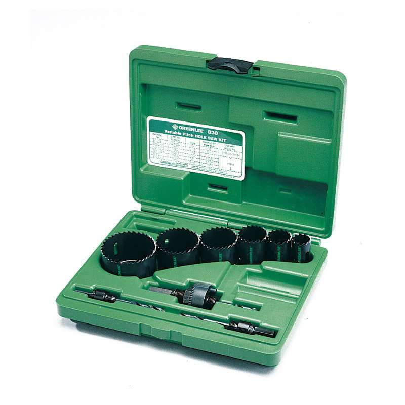 "Bi-Metal Hole Saw Kit for 0.5 - 2"" Conduits"