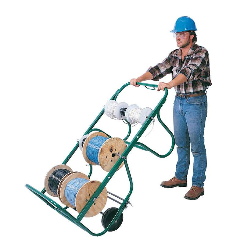 """Wire Cart with Steel Tubing, 6 Position Axles, up to 16"""" Diameter Spools"""