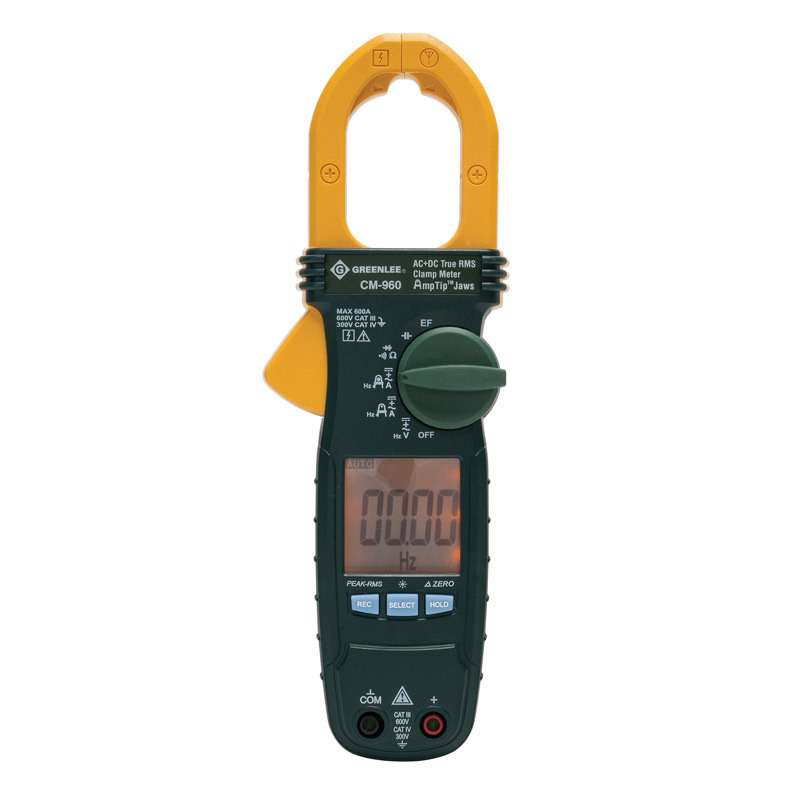 True RMS AC/DC Clamp Meter with Backlit Display