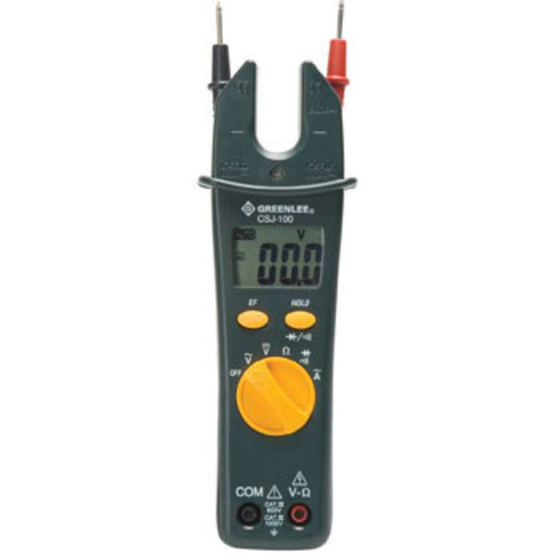Open Jaw Clamp Meter with Bright LED and Audible Alarm