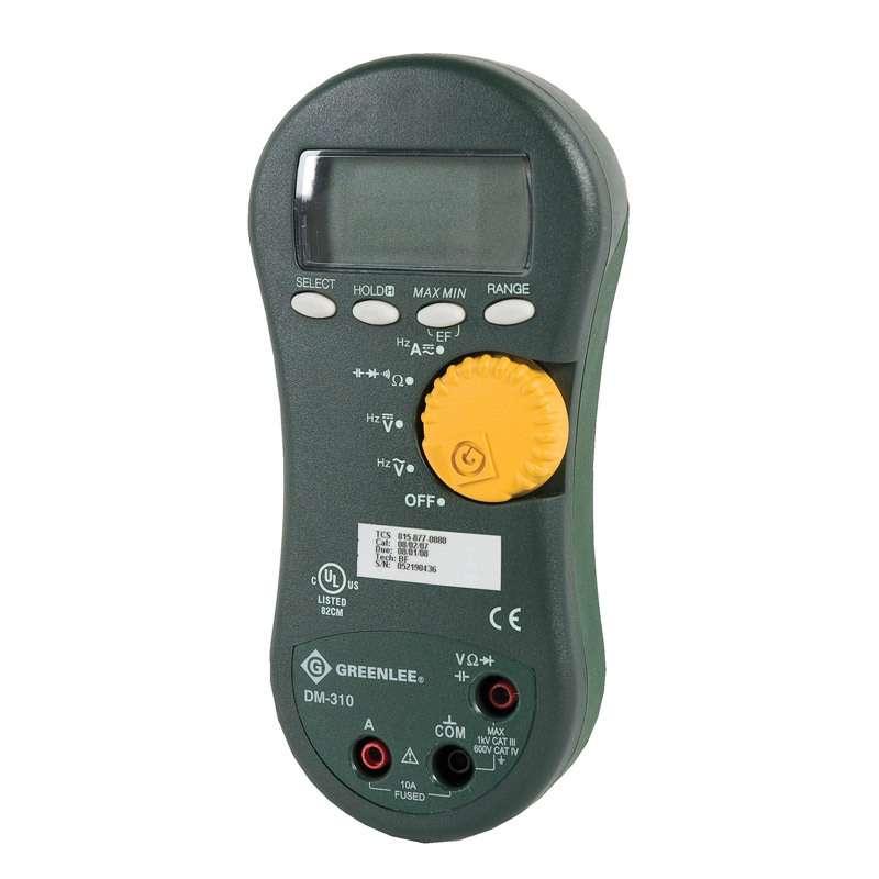 Electrical Tester Greenlee Dm 40 : Greenlee averaging digital multimeter v ac dc