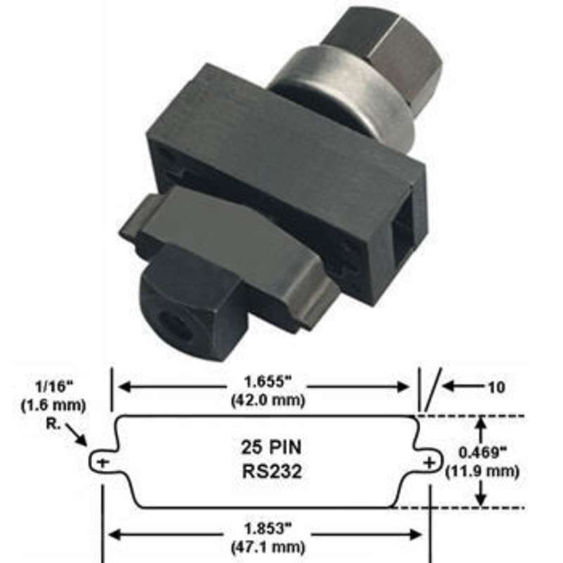 Special Application Electronic Connector Panel Punch Unit for 25 Pin Connectors