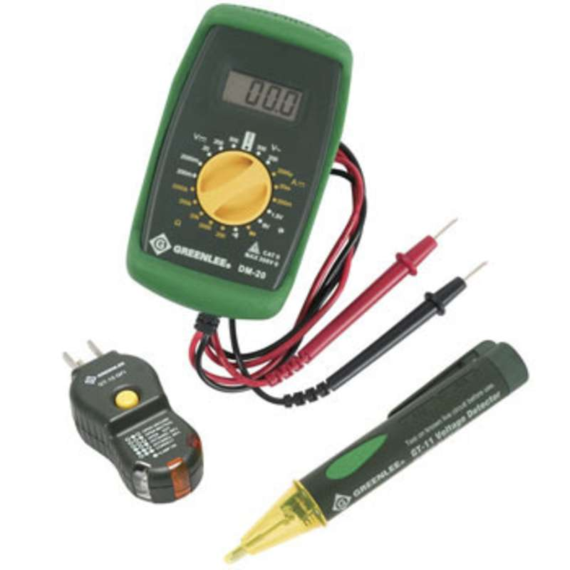Greenlee Electrical Tester : Greenlee electrical test kit includes multimeter