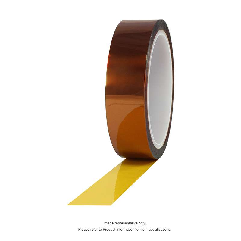 Hisco Polyimide Tape, Amber, 1/2 in x 36 yds, 72 rolls per case