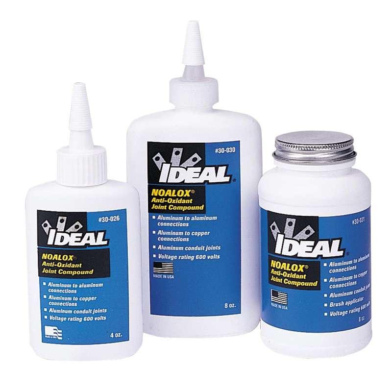 Noalox Anti-Oxidant Compound for Aluminum-Aluminum and Aluminum-Copper Connections, 8 oz.
