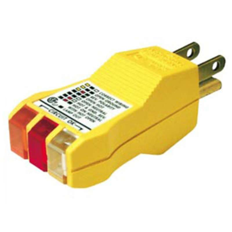 E-Z Check Circuit Tester for 3 Wire, 125V AC Circuits