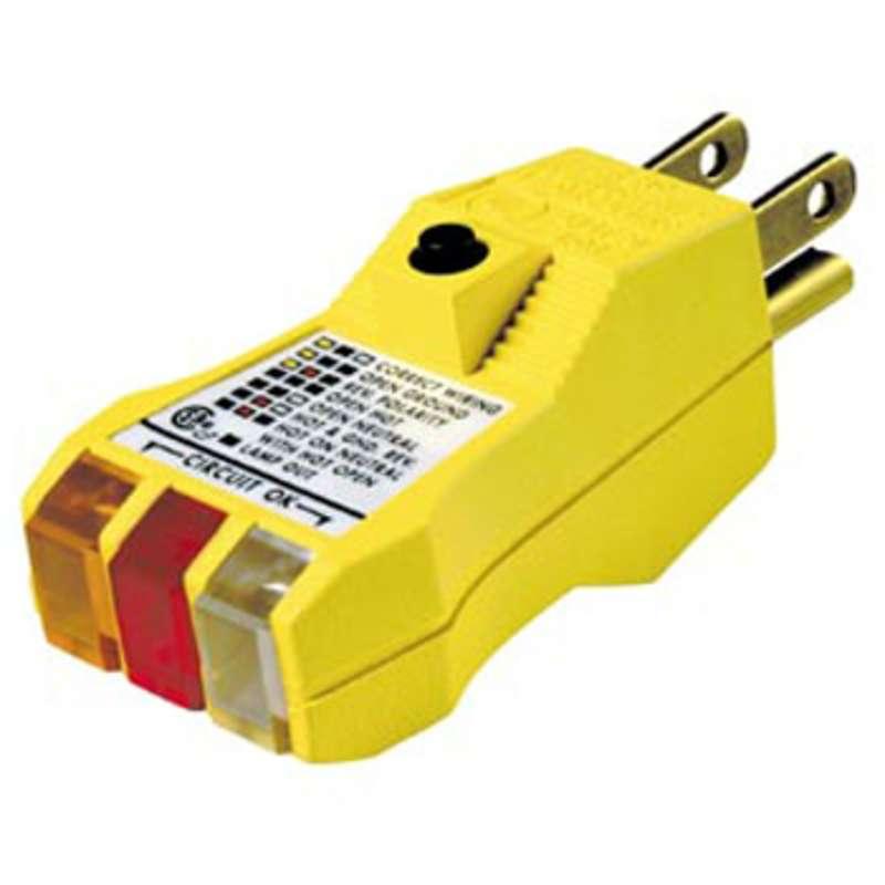 e z check plus gfci circuit tester for 3 wire 125v ac circuits rh hisco com