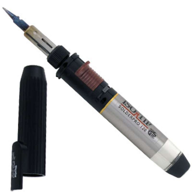 iso tip solder pro 120 butane soldering iron with conical tip butane not included. Black Bedroom Furniture Sets. Home Design Ideas