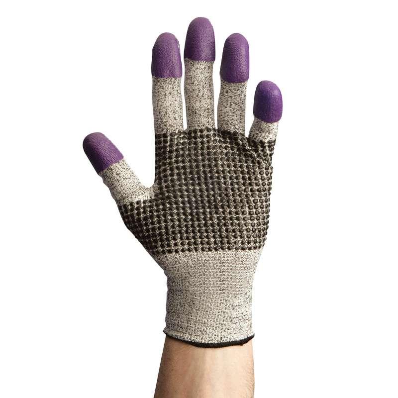 KleenGuard G60 Endurapro Dual Grip Purple Nitrile Level 3 Cut Resistant Gloves with Nitrile Dotted Palm, 12 Pair, 2X-Large (11.0)