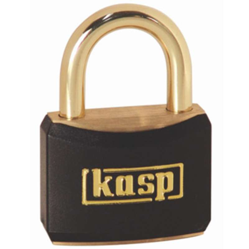 Brass Corrosion Resistant Black Padlock with Key, 21mm Shackle