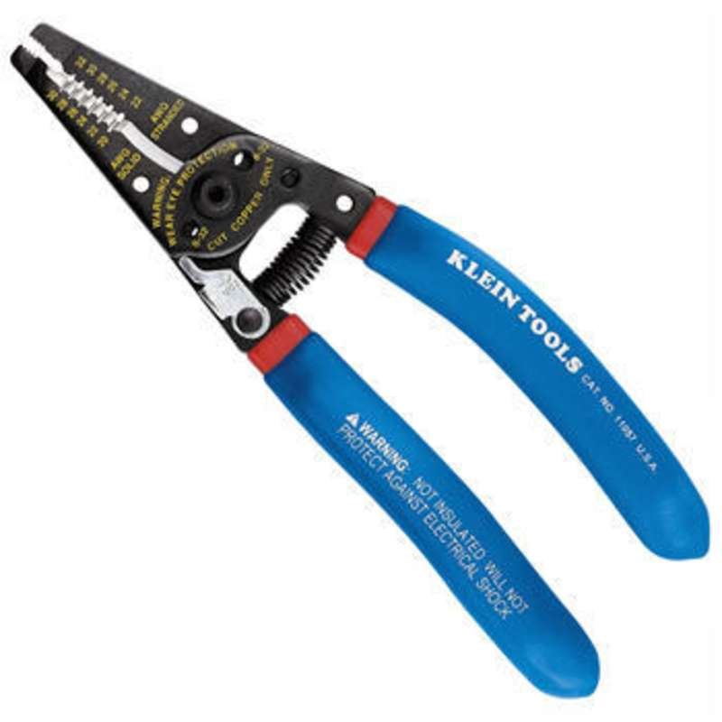 Klein-Kurve® Wire Stripper/Cutter for 20 - 30 AWG Solid and 22-32 ...