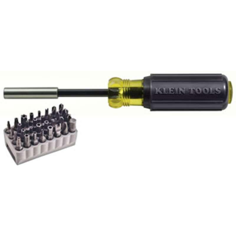 Magnetic Bit Holder with 32 Tamperproof Bits