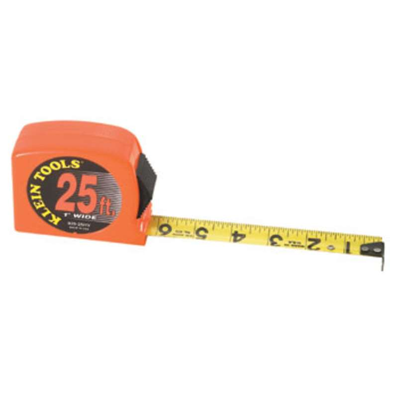 "Orange Tape Measure with Power Return, 1"" x 25'"