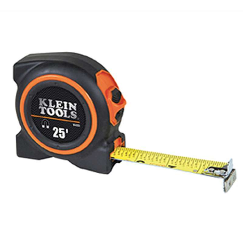 """Double Sided Nylon Coated Steel Tape Measure with Magnetic Double End Hooks, 1"""" x 25'"""