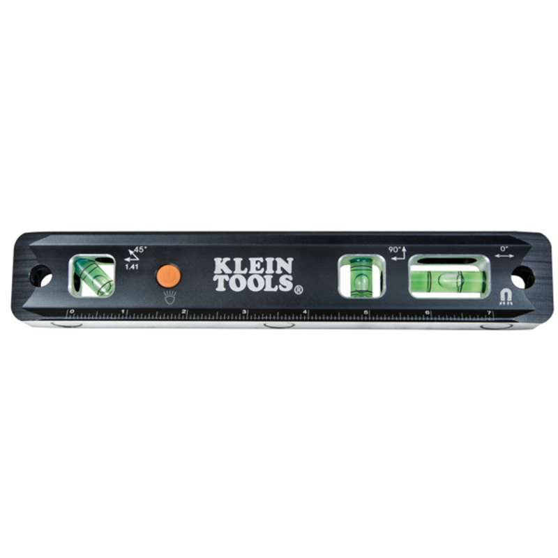 "9"" Lighted Electrician Torpedo Level, 9"" Long"