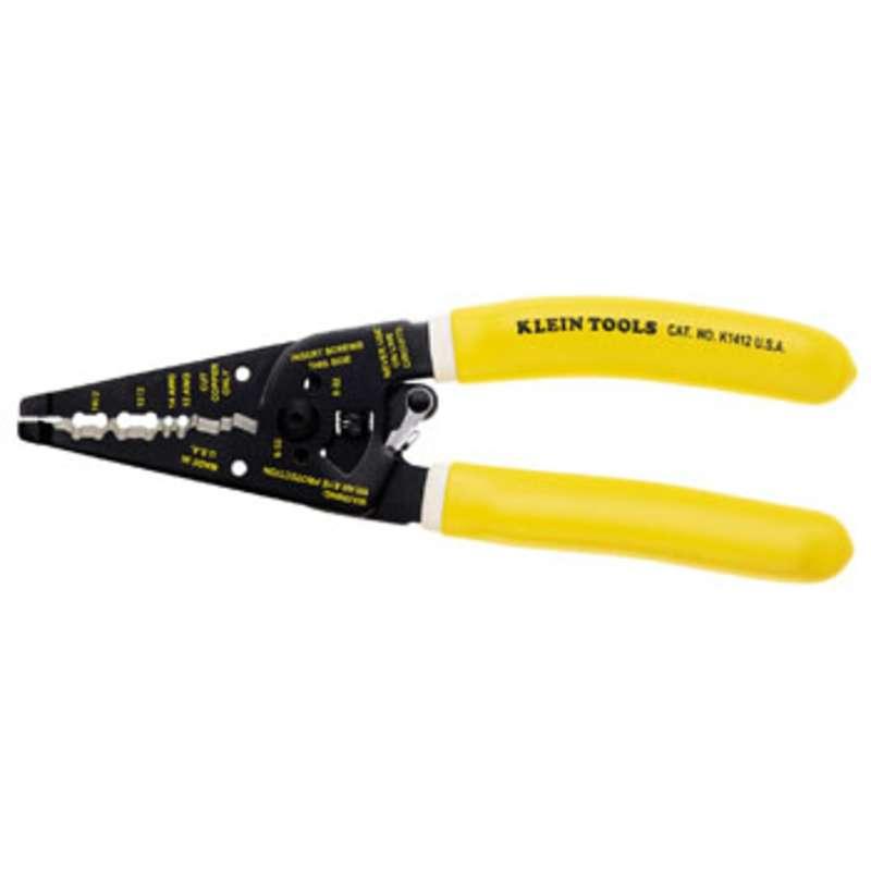 "Klein-Kurve® Dual Non-Metallic Cable Stripper/Cutter, 7-11/16"" Long"