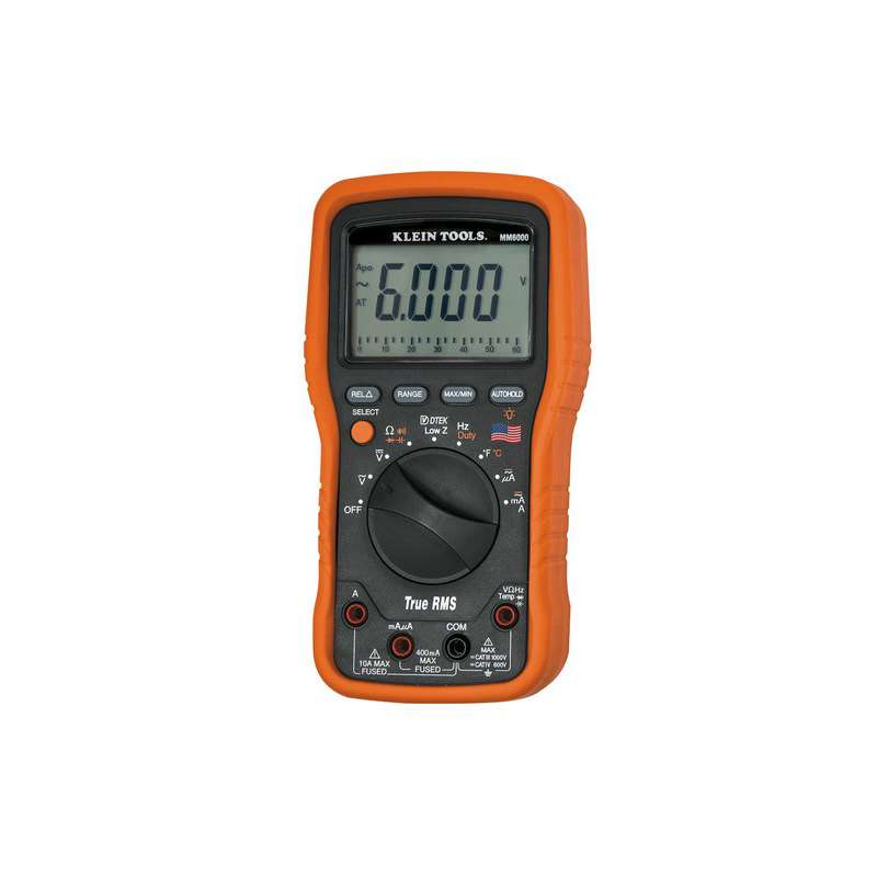 True-RMS Low Impedance Electrician's Multimeter with Temperature Function
