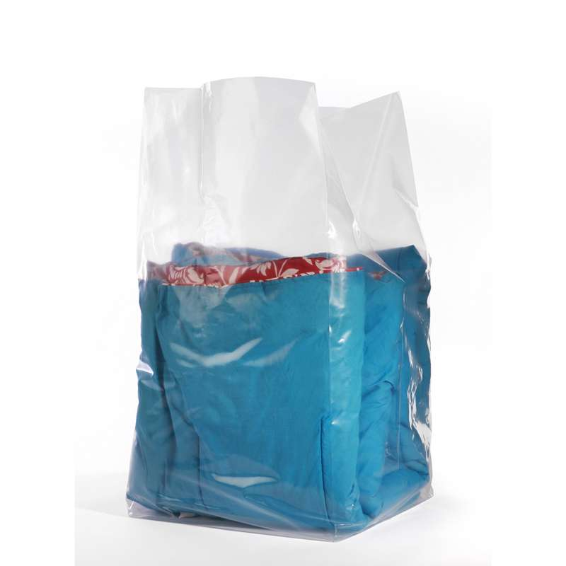 Gusseted LDPE Resin Premium Bag, 1 Mil, 1000 per Case, 8 x 4 x 18""