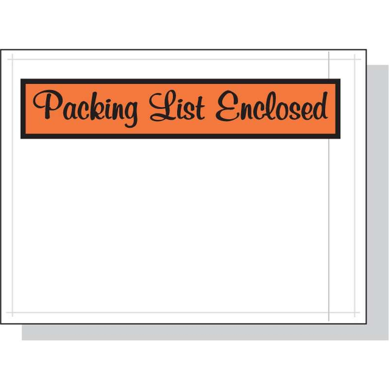 Packing List Enclosed Envelope 4 5 X 6 1000 Per Case