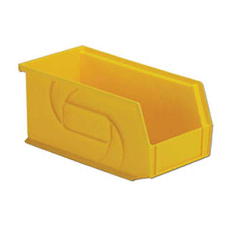 Hanging and Stacking Parts Bin, Yellow, 6.8x3.4x2.8in, 24 per Case
