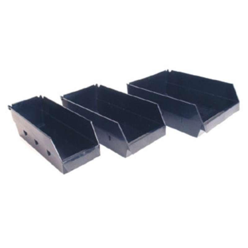 "Conductive Shelf Bin, Black 10-1/2 x 3-5/16 x 3-15/16""ID"