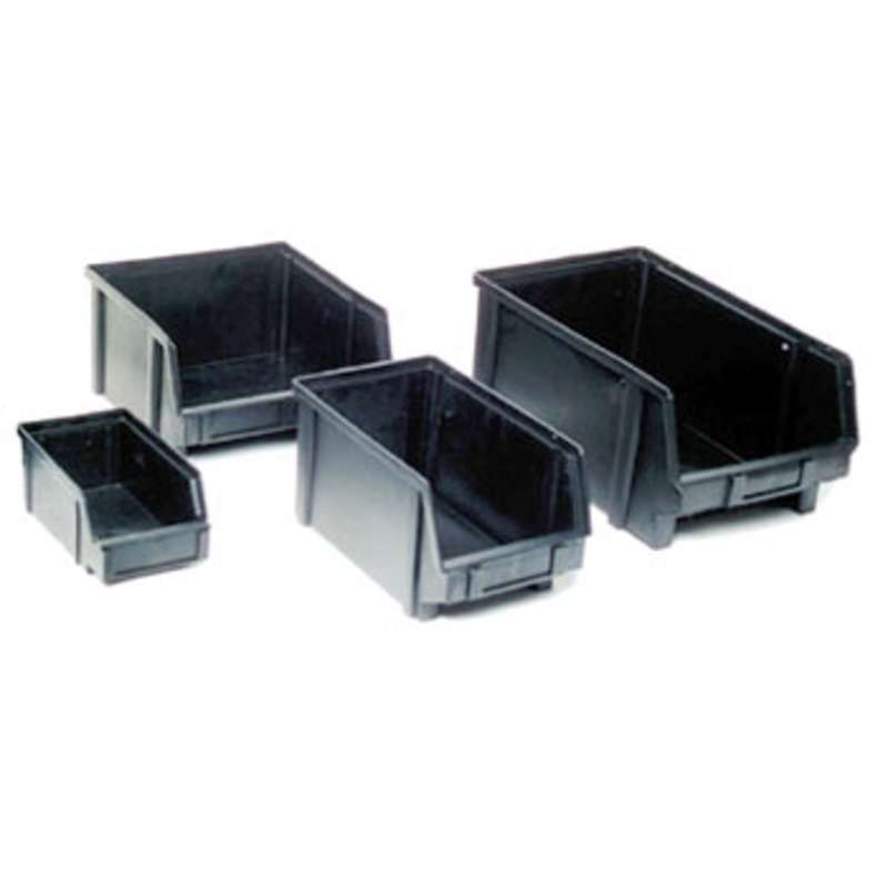 "Conductive Bin Box w/Molded-In Divider, 8-7/16 x 5 x 5"" ID"