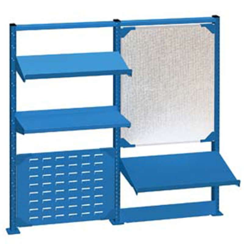 "Nexus Accessory System Kit for 72"" Lista Workbenches, Bright Blue"