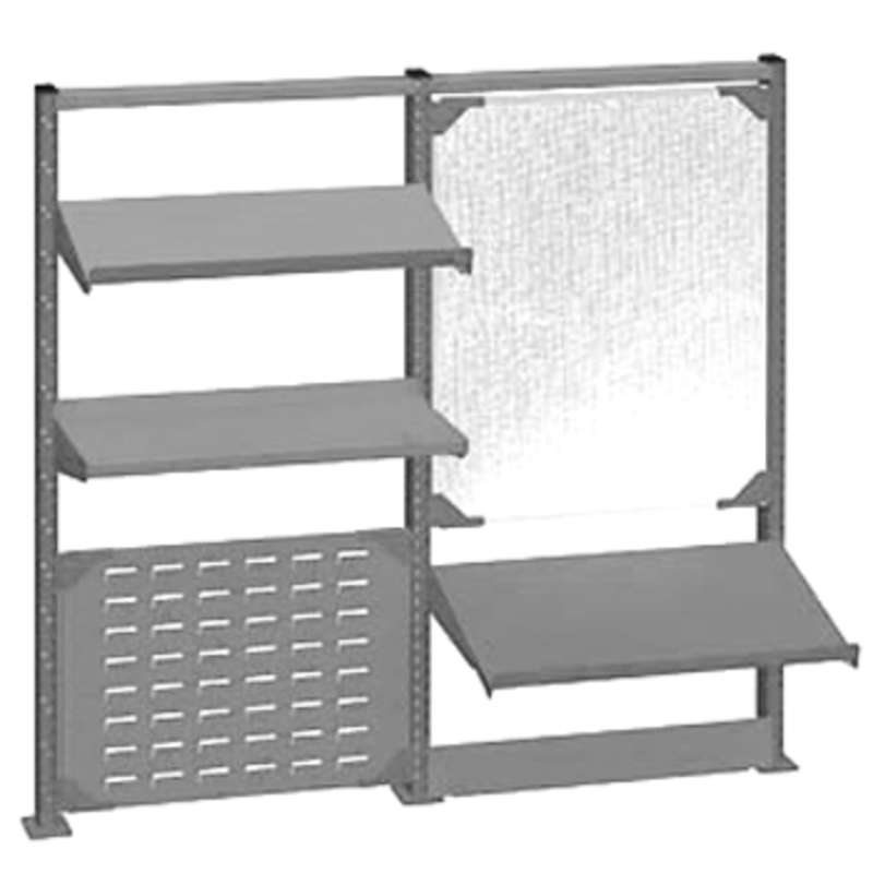 """Nexus Accessory System Kit for 60"""" Lista Workbenches, Light Grey"""